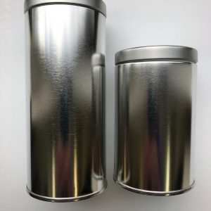 Silver tins