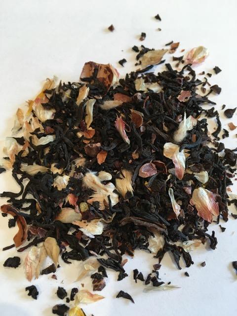 Hazelnut and vanilla black tea